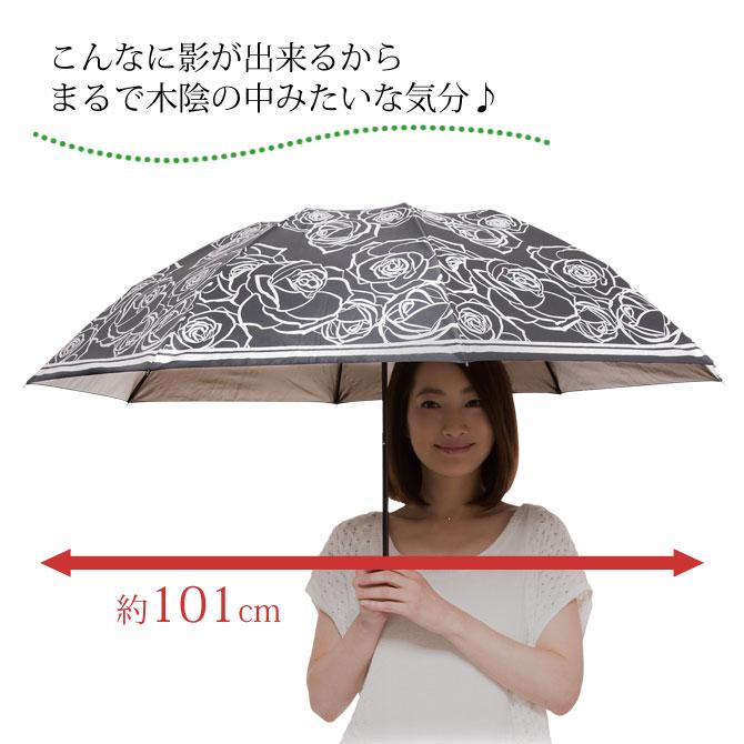 晴雨兼用 折りたたみ 遮熱日傘 ブラック