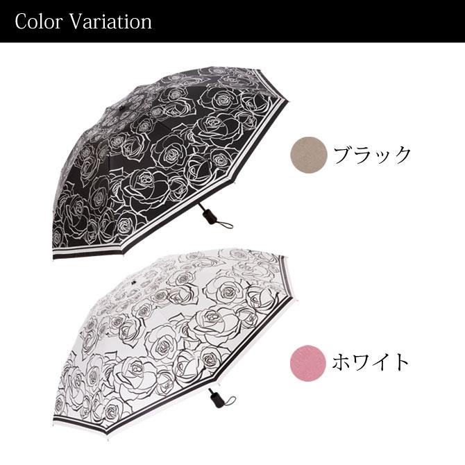 晴雨兼用 折りたたみ 遮熱日傘 ホワイト