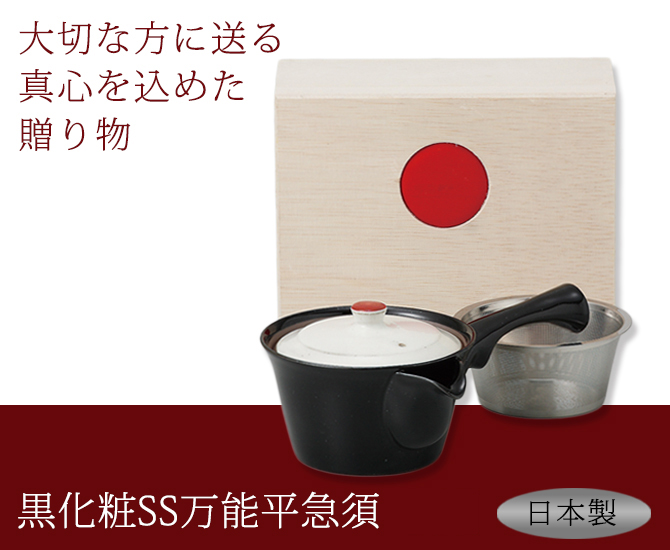 黒化粧SS万能平急須 B04-50989