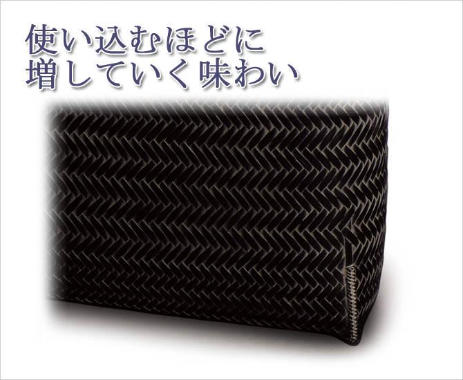 網代ショルダーバッグ【黒】