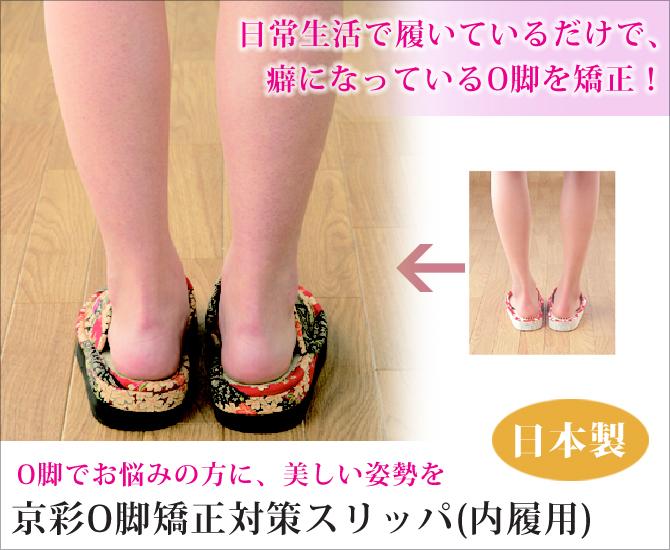 京彩O脚矯正対策スリッパ(内履用)