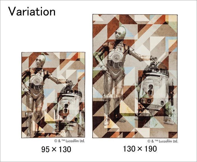 スターウォーズ ラグ R2-D2&C-3PO variation