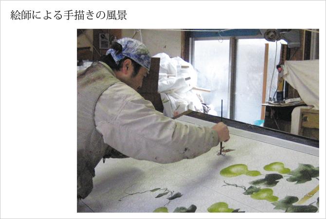 麻混手描き六瓢箪福雀のれん 通販 雑貨